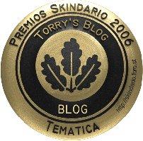 Premio Skindario - Torry's Blog por segunda vez obtiene el galardón a la Temática