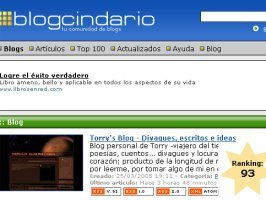 Ranking - El regreso al Top 100 de Miarroba Blogcindario